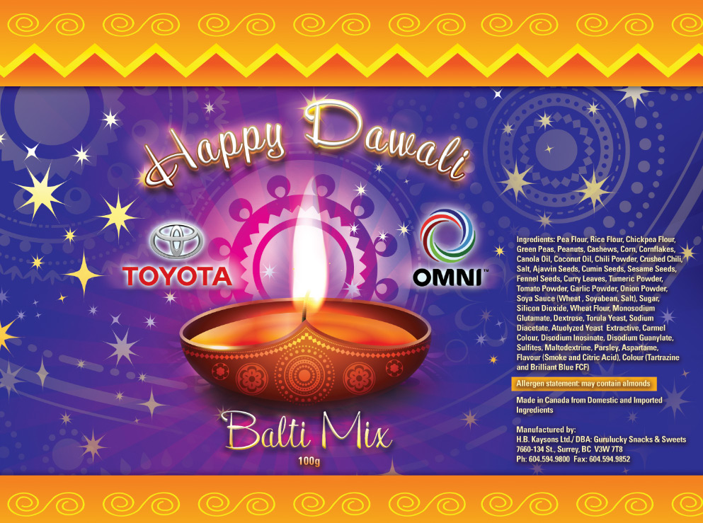 Package Design Diwali Treats Bag